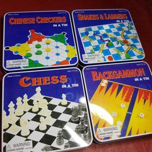 Vintage Set of Four Games in a Tin.